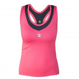 Black Crown Camiseta Pals Mujer Rosa-Gris