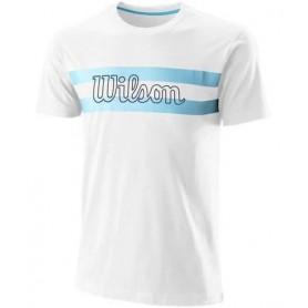 Wilson Camiseta Chi Script Ctn Tee-Slimfit Blanco