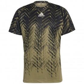Adidas Camiseta Freelift Printed Primeblue Verde