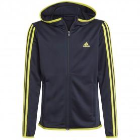 Adidas Chaqueta Con Capucha Designed 2 Move 3 Bandas Azul