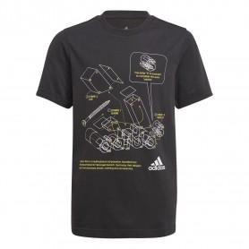 Adidas Camiseta Tech Sports Graphic Negro