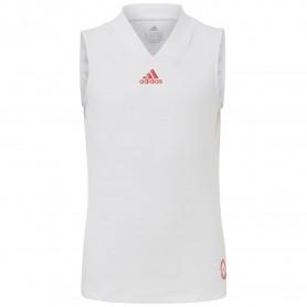 Adidas Camiseta Tirantes Niña Q3 Match Blanco