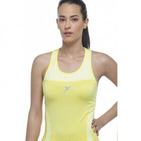 Camiseta Drop Shot Nauka Mujer Amarillo
