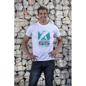 Camiseta Drop Shot Trainning Jmd Hombre Blanco