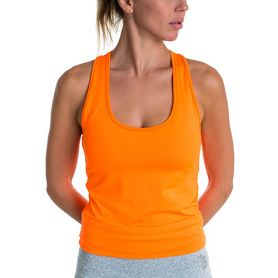 Camsieta Basica Bb  Mujer Naranja Fluor