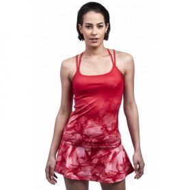 Camiseta Drop Shor Lyra Mujer Rojo