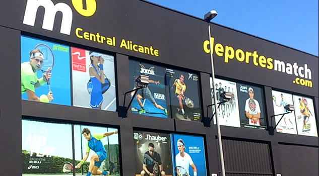M1 Central Alicante - Almacen central de Deportes Match y M1PADEL